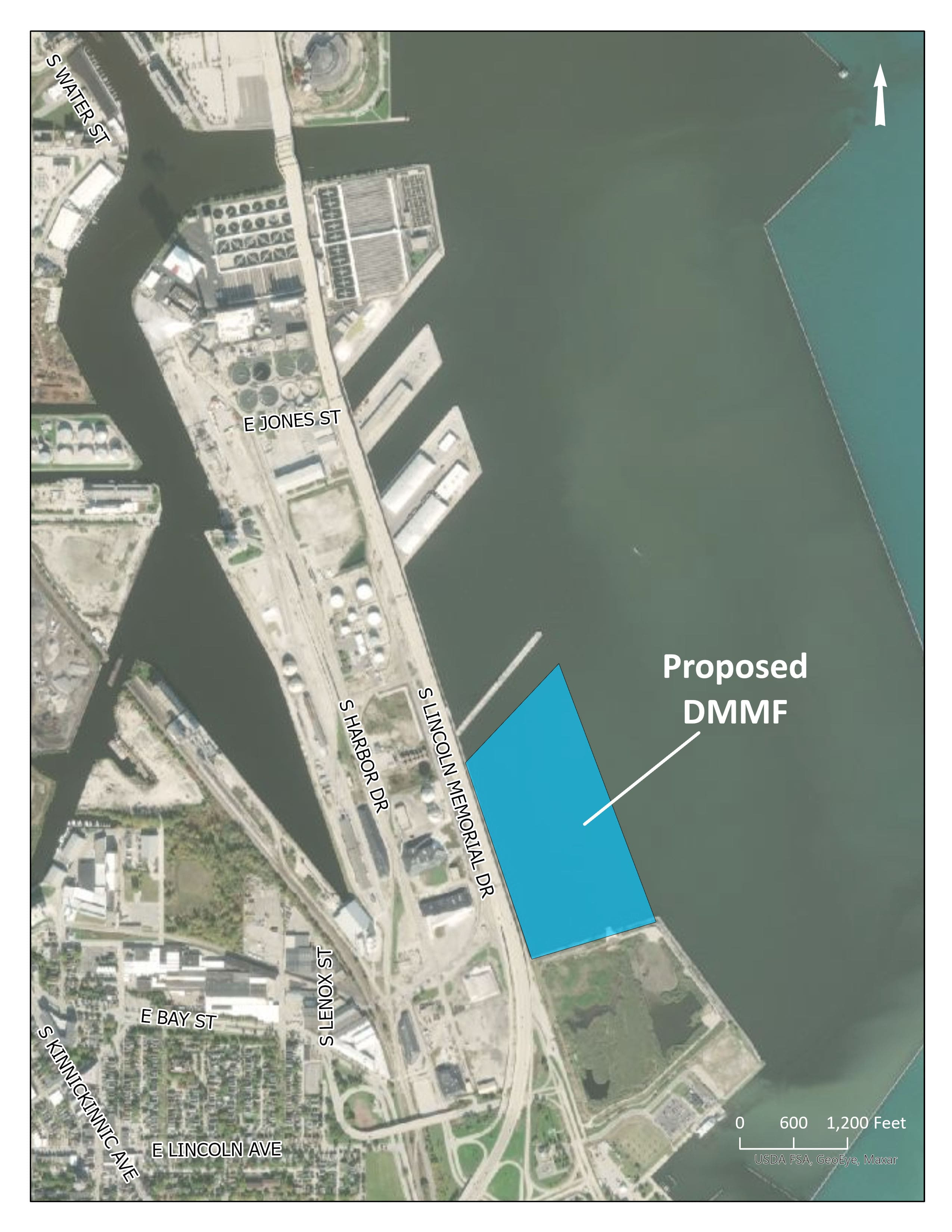 dredged materials facility map