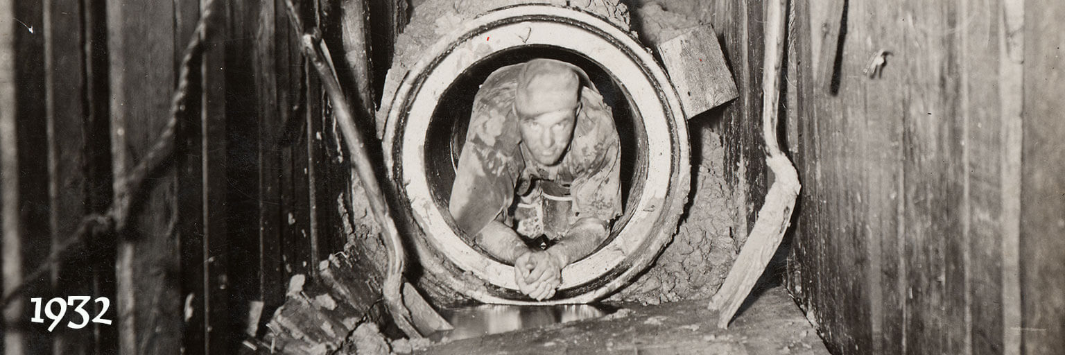 man in sewer