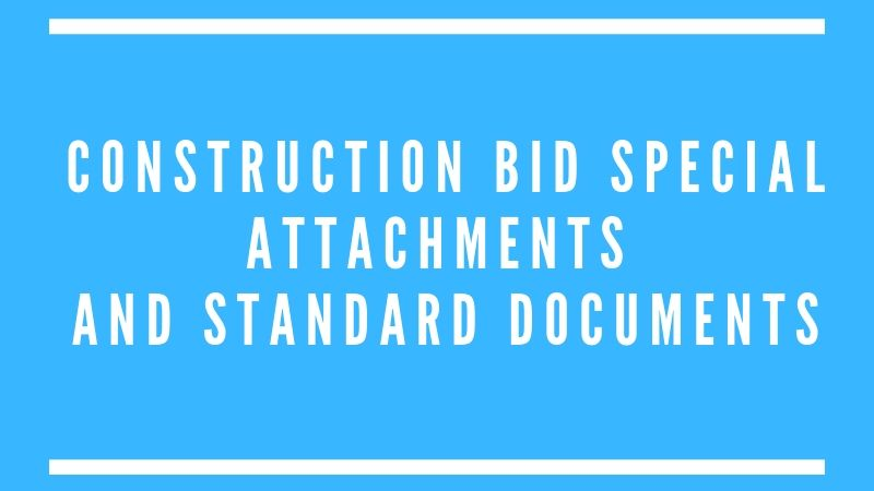 Construction Bid Attachements at MMSD