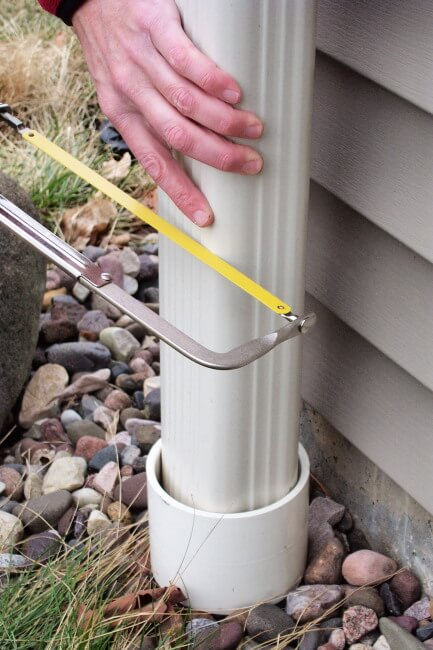 Cut Downspout