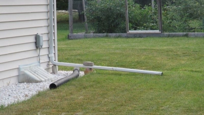 correct way to put downspout into your lawn