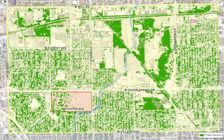 Milwaukee Stormwater Tree Project Map