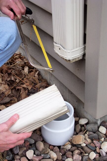 Remove Downspout Section