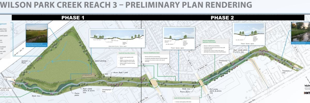 Wilson Park Creek Project Phase 1 Rendering Map MMSD