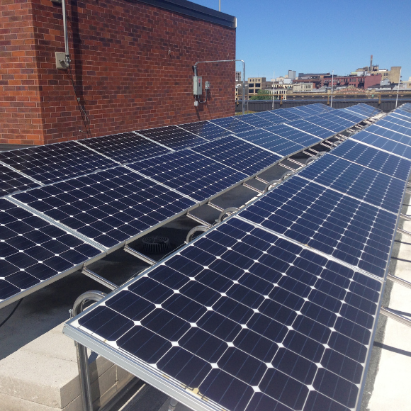 Solar Panels on the MMSD roof