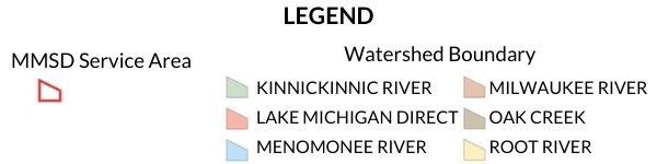 legend of milwaukee area watersheds map