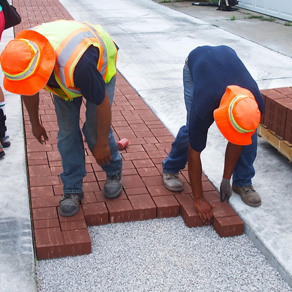 Installing a Porous Pavement street