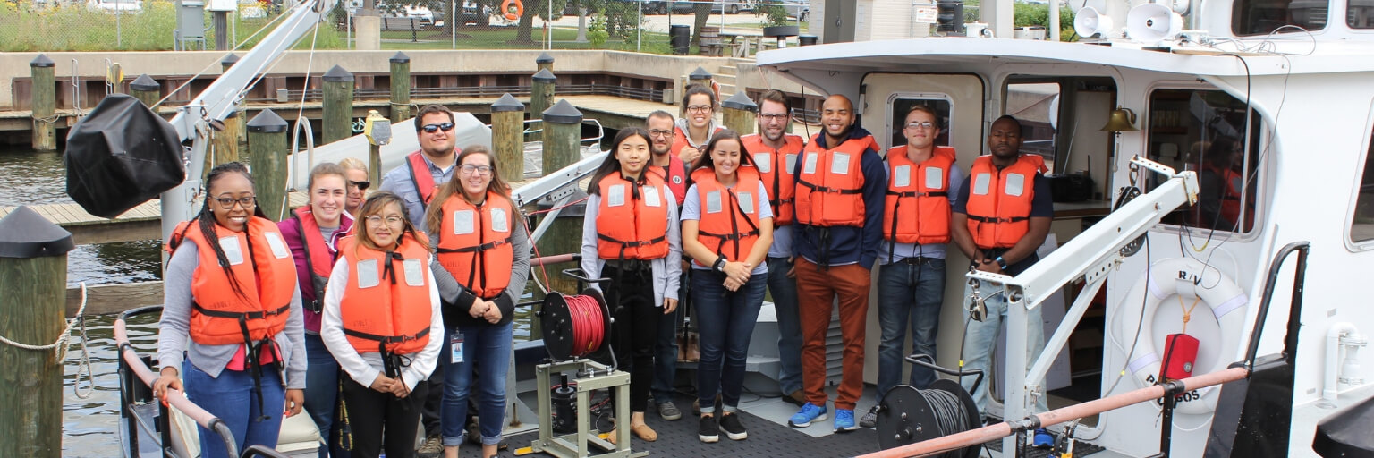MMSD summer interns on Pelagos boat